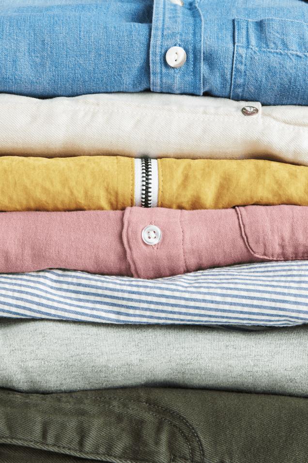 Stitch Fix clothing stack
